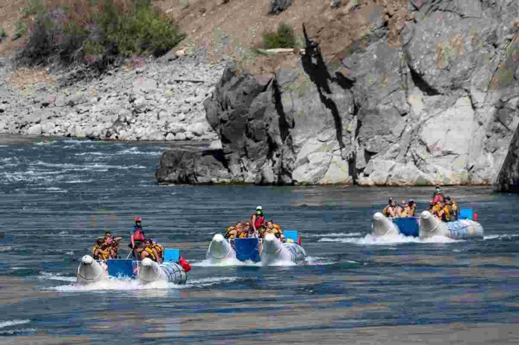 Whitewater rafting near Vancouver at Kumsheen Resort.