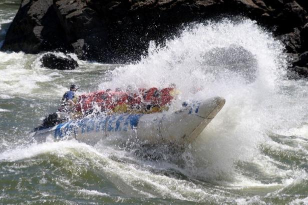 River rafting at Kumsheen Rafting Resort in BC.
