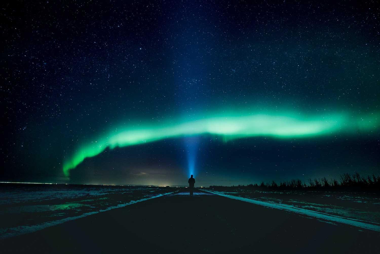 Seeing the aurora borealis in Canada.