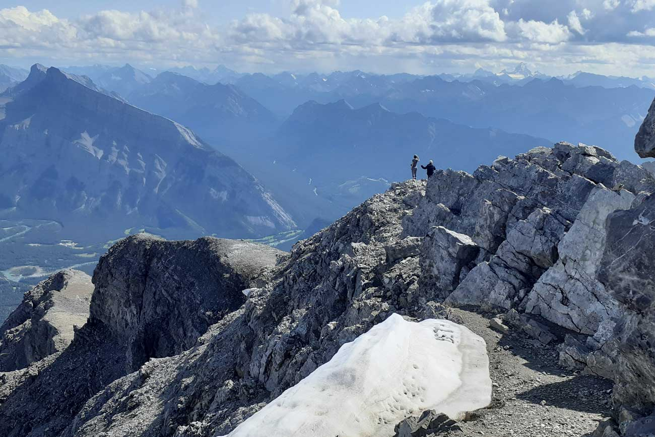 One of the best hikes in Banff is Cascade Mountain.