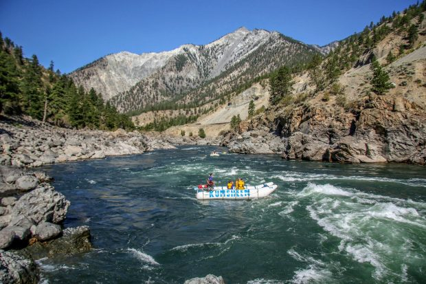 Rafting on the Thompson River in British Columbia