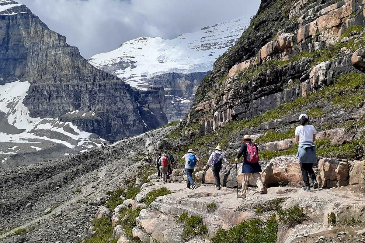 Plain of Six Glaciers is one of the best hikes near Banff.